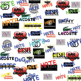 Clothing Designer Labels Logos Hate Fashion logo