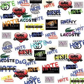 Label fashion designer house logo